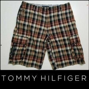 Tommy Hilfiger Men's Plaid & Check Shorts Size 33